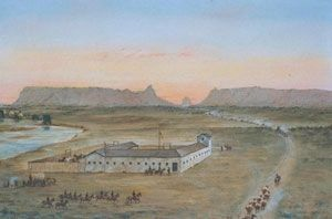 Fort Mitchell by William Henry Jackson image. Click for full size.