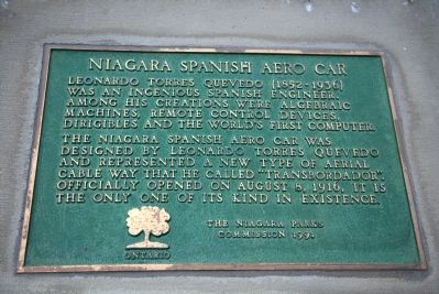 Niagara Spanish Aero Car Marker image. Click for full size.