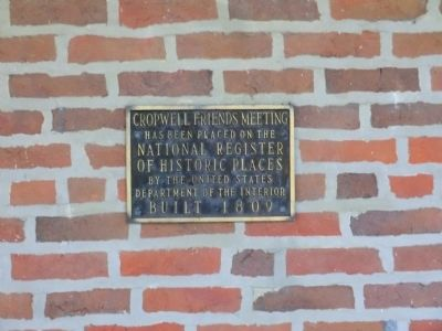 Cropwell Friends Meeting Marker image. Click for full size.