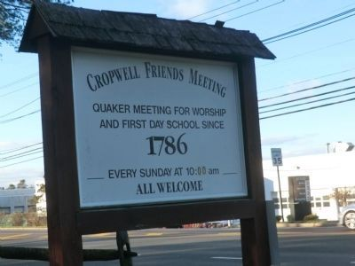 Cropwell Friends Meeting-Sign on the Corner image. Click for full size.
