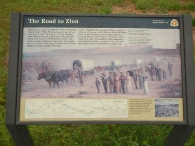 The Road to Zion Marker image. Click for full size.