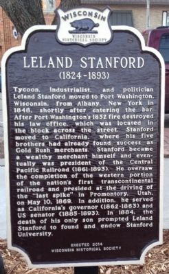 Leland Stanford Marker image. Click for full size.