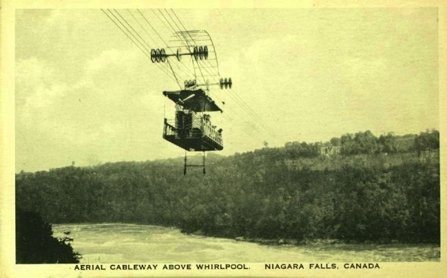 <i> Aerial Cableway Above Whirlpool. Niagara Falls, Canada</i> image. Click for full size.