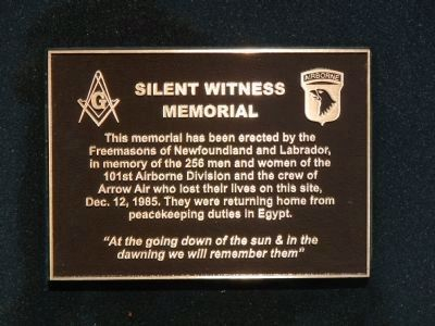 Silent Witness Memorial plaque image. Click for full size.