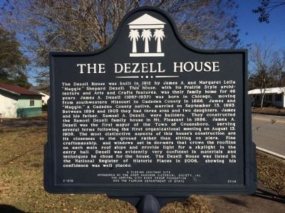 Dezell House Marker image. Click for full size.