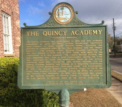 The Quincy Academy Marker image. Click for full size.