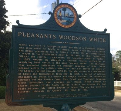Pleasants Woodson White Marker image. Click for full size.