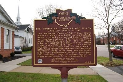 The Independent Order of Odd Fellows Marker image. Click for full size.