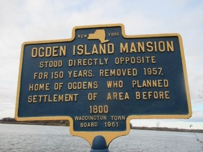Ogden Island Mansion Marker image. Click for full size.