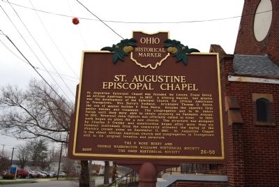 St. Augustine Episcopal Chapel Marker image. Click for full size.