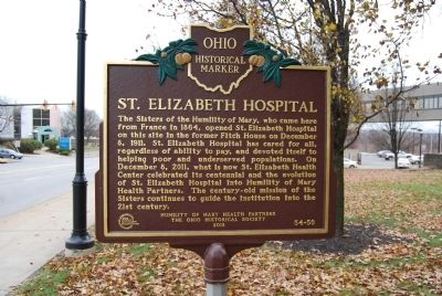 St. Elizabeth Hospital Marker image. Click for full size.