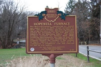 Hopewell Furnace Marker image. Click for full size.