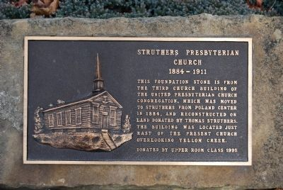 Struthers Presbyterian Church Marker image. Click for full size.