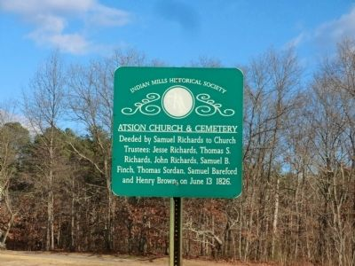 Atsion Church & Cemetery Marker image. Click for full size.