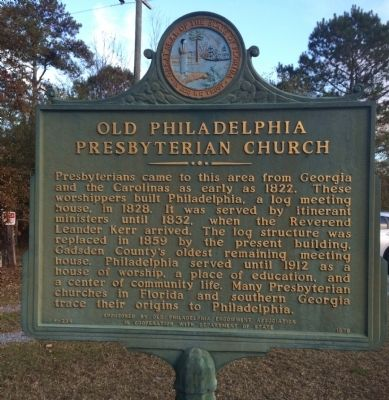 Old Philadelphia Presbyterian Church Marker image. Click for full size.