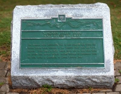 Niagara Falls Park and River Railway Marker image. Click for full size.