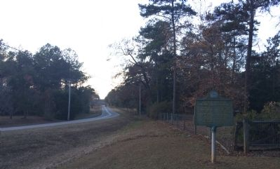 Looking West on CR 272 towards marker. image. Click for full size.