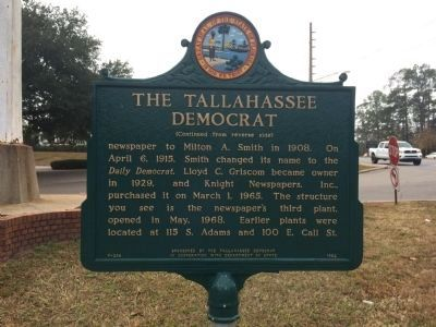 The <i>Tallahassee Democrat </i>Marker (Side 2) image. Click for full size.