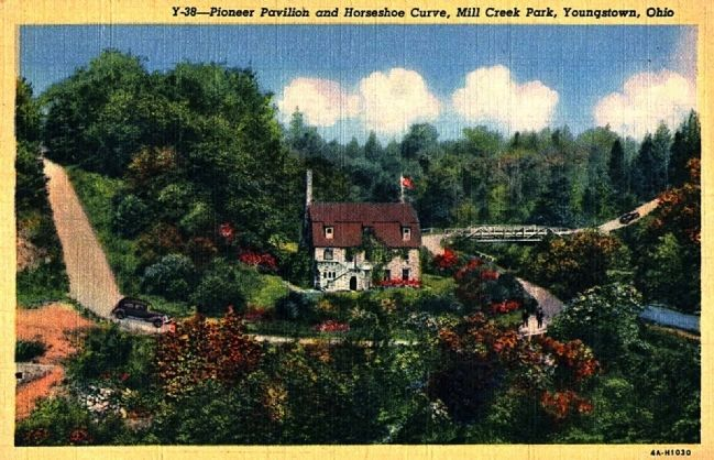<i>Pioneer Pavilion and Horseshoe Curve, Millcreek Park, Youngstown, Ohio</i> image. Click for full size.