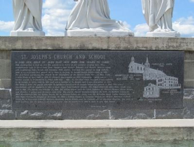 St Joseph's Church and School Marker image. Click for full size.
