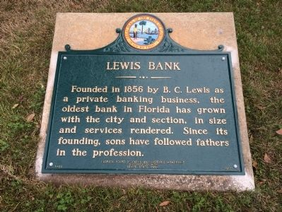 Lewis Bank Marker image. Click for full size.