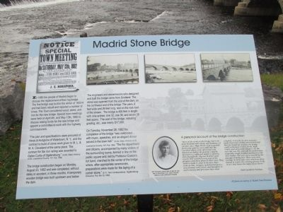 Madrid Stone Bridge Marker image. Click for full size.