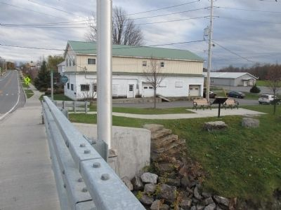 Southward on NY 345 Bridge over Grass River image. Click for full size.
