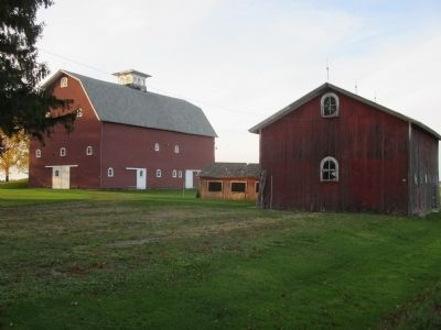 Main Barn, Chicken Coop, Hog Barn image. Click for full size.