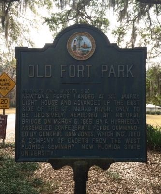 Old Fort Park Marker (Reverse) image. Click for full size.