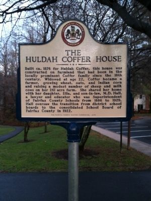 THE HULDAH COFFER HOUSE Marker image. Click for full size.
