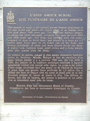 L'anse Amour Burial Marker image. Click for full size.