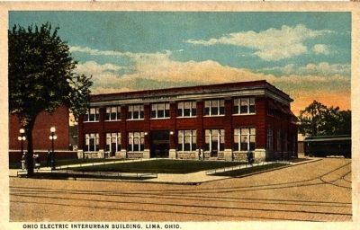 <i>Ohio Electric Interurban Building, Lima, Ohio</i> image. Click for full size.