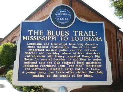 The Blues Trail: Mississippi to Louisiana Marker image. Click for full size.