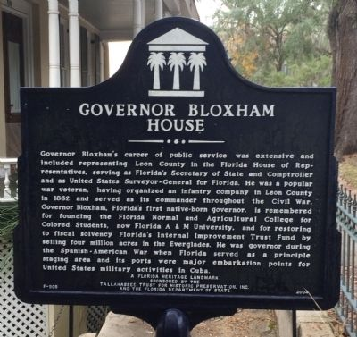 Side 2: Governor Bloxham House Marker image. Click for full size.