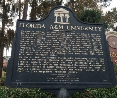 Florida A&M University Marker image. Click for full size.