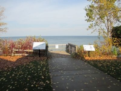 Marker is at Left. Lake Ontario in Background. image. Click for full size.