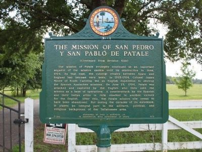 The Mission of San Pedro y San Pablo de Patale Marker Side 2 image. Click for full size.