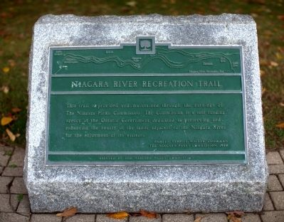 Niagara River Recreation Trail Marker image. Click for full size.