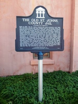 The Old St. Johns County Jail Marker (<i>tall view&lt;./i&gt;) image. Click for full size.