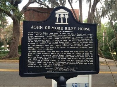 John Gilmore Riley House Marker image. Click for full size.