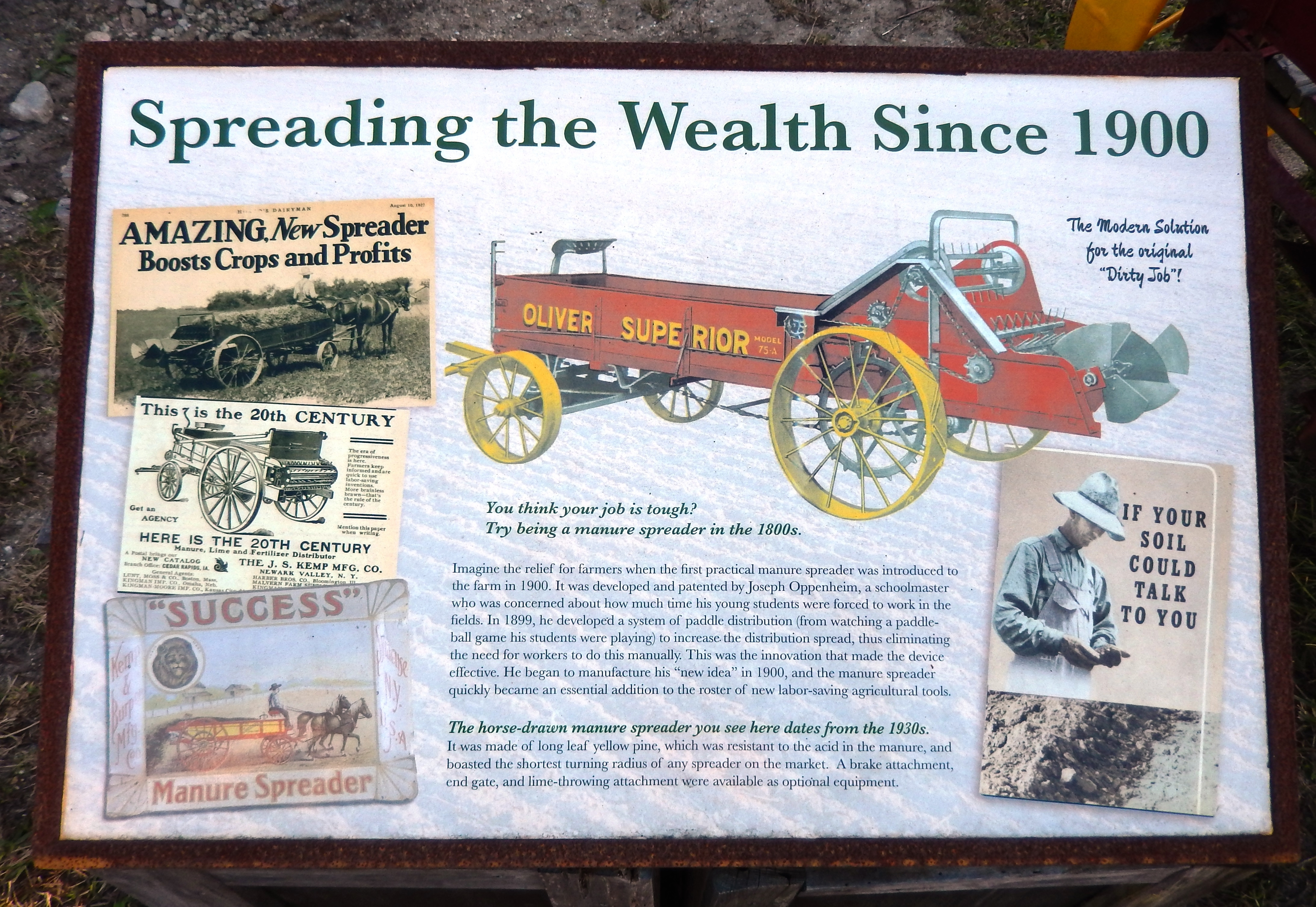 Spreading the Wealth Since 1900 Marker