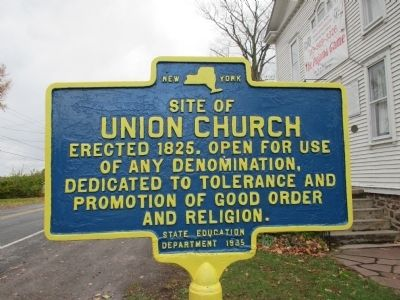 Site of Union Church Marker image. Click for full size.