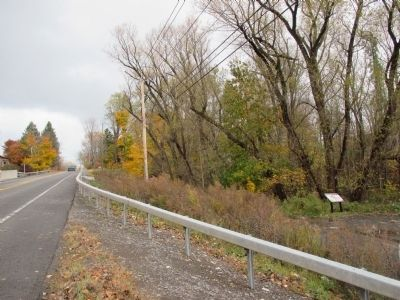 Marker at Right as Seen From Lake Road - Eastbound. image. Click for full size.