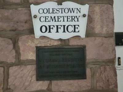 Colestown Cemetery Office Marker image. Click for full size.