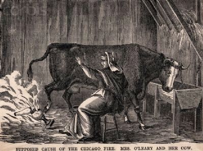 Mrs. O&#39;Leary and Her Cow<br>Supposed Cause of the Chicago Fire image. Click for full size.