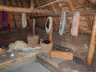 Interior of reconstructed Viking hall image. Click for full size.