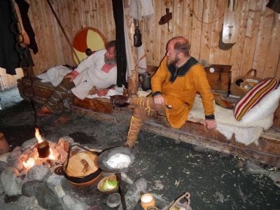 Norse re-enactors at L'Anse aux Meadows image. Click for full size.