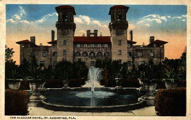 <i>The Alcazar Hotel, St. Augustine, FLA.</i> image. Click for full size.