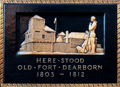 Old Fort Dearborn Marker image. Click for full size.