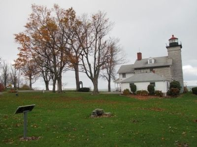 Back of Marker and Sodus Bay Lighthouse image. Click for full size.